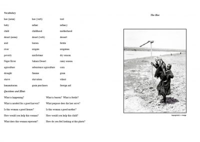 The Hoe - Assignment Sheet and Photograph - pages 98+99 from Verbalize the Visual