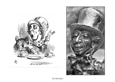 """Two Alice Statues in Central Park - page 52 - """"Why is a raven like a writing-desk?"""" asked the Hatter."""